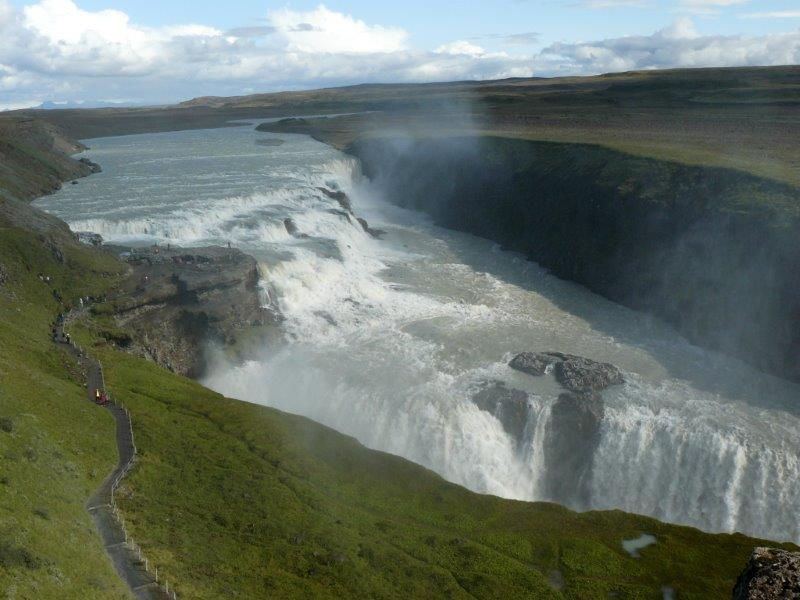 Gullfoss -wodospad  na rzece Hvítá (fot.: materiały własne Róża Detmer)